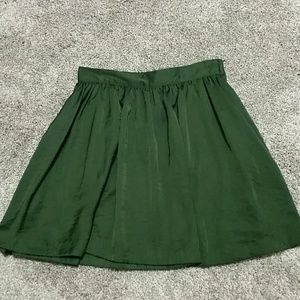 H&M Forest Green Mini Skirt with Pockets